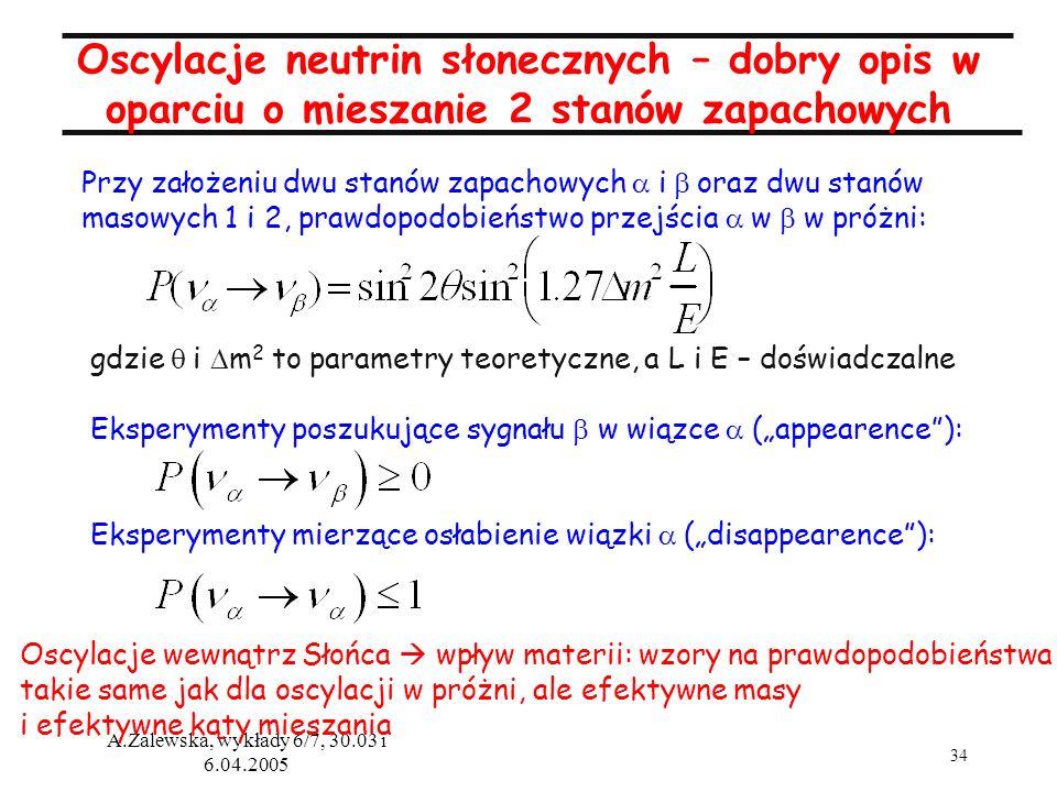 Oscylacje neutrin słonecznych – dobry opis w oparciu o mieszanie 2 stanów zapachowych