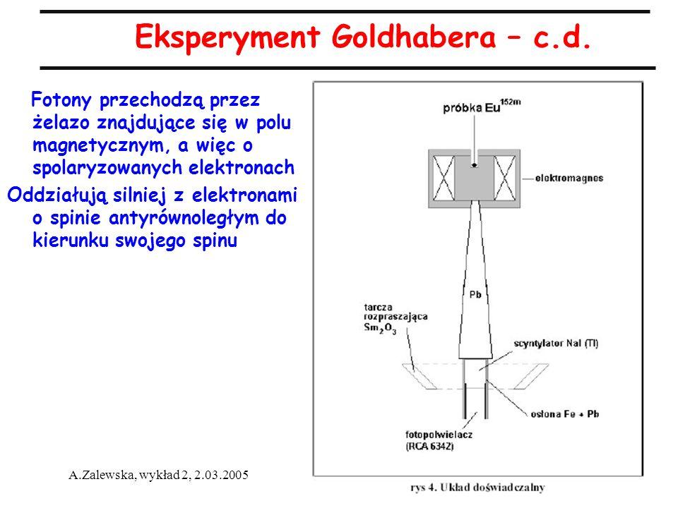 Eksperyment Goldhabera – c.d.