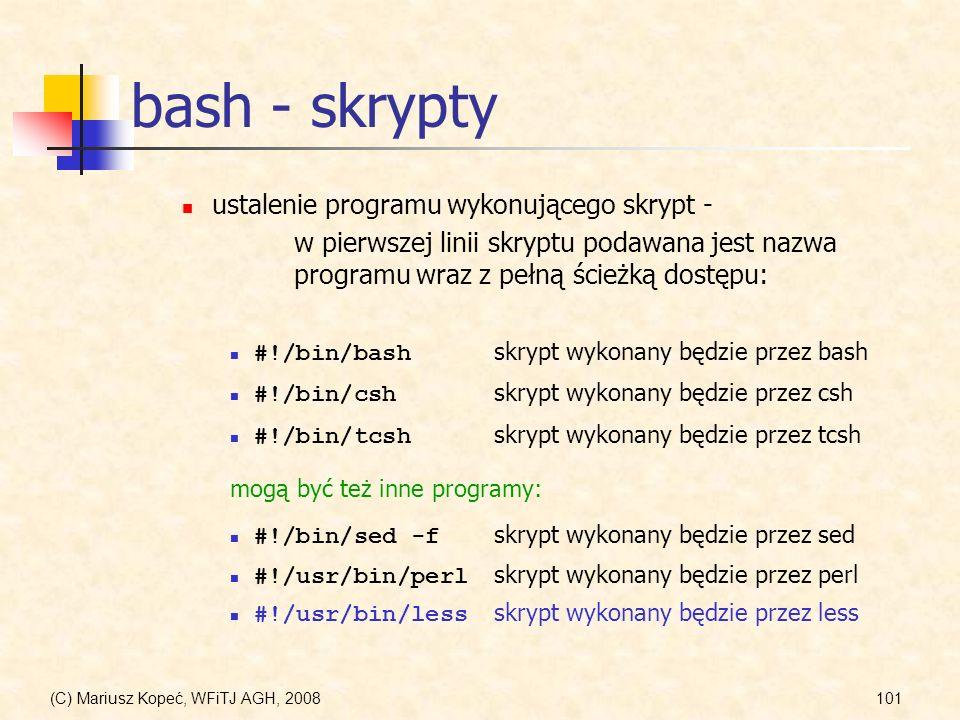 bash - skrypty ustalenie programu wykonującego skrypt -