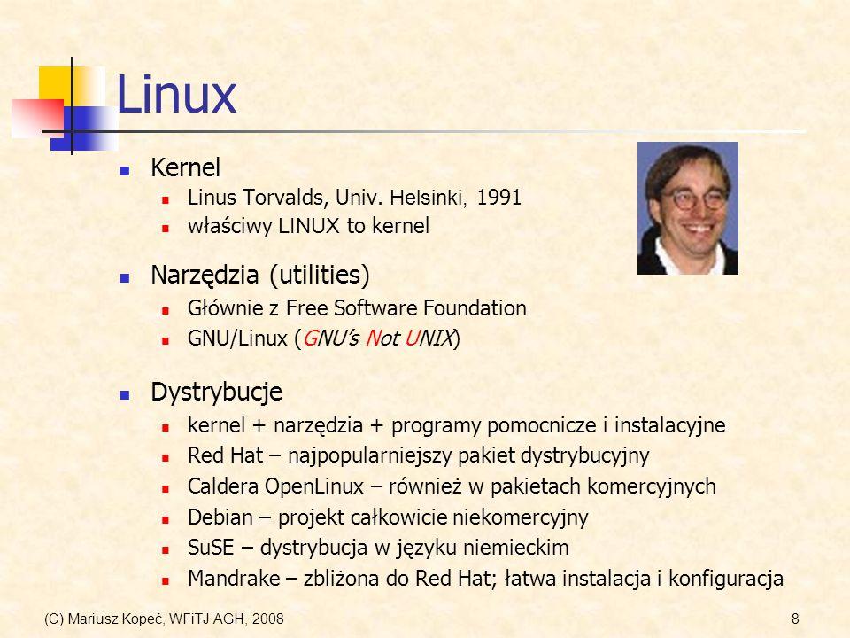 Linux Kernel Narzędzia (utilities) Dystrybucje