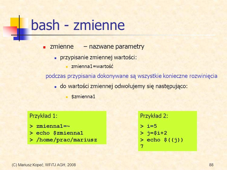 bash - zmienne zmienne – nazwane parametry