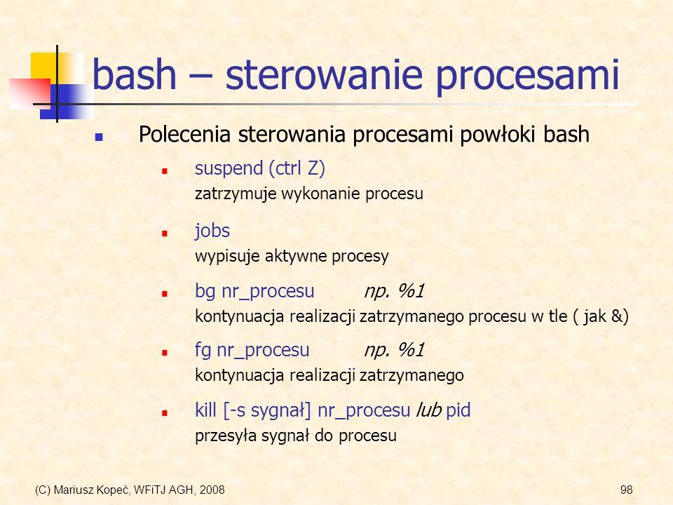 bash – sterowanie procesami