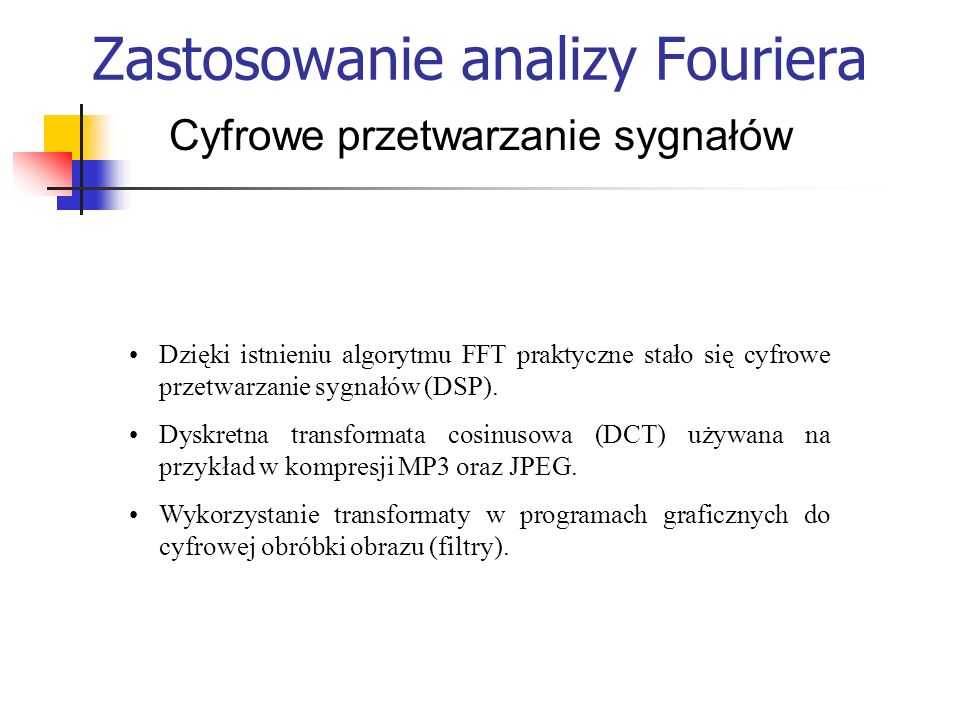 Zastosowanie analizy Fouriera