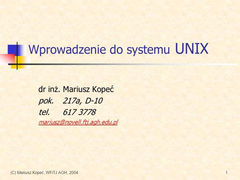 Wprowadzenie do systemu UNIX