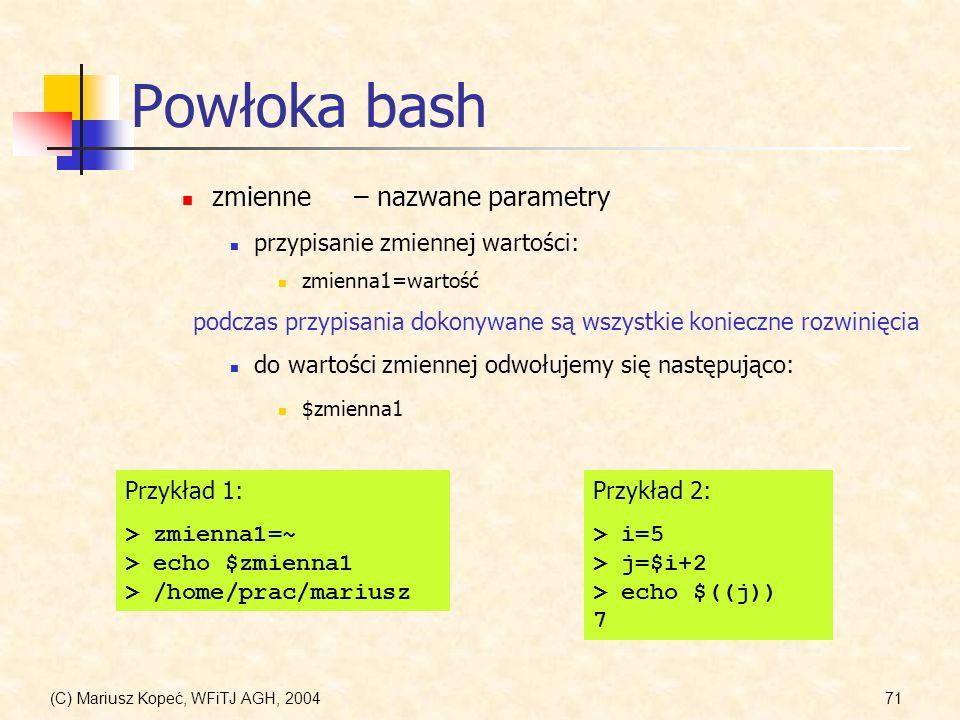 Powłoka bash zmienne – nazwane parametry