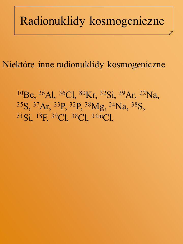 Radionuklidy kosmogeniczne