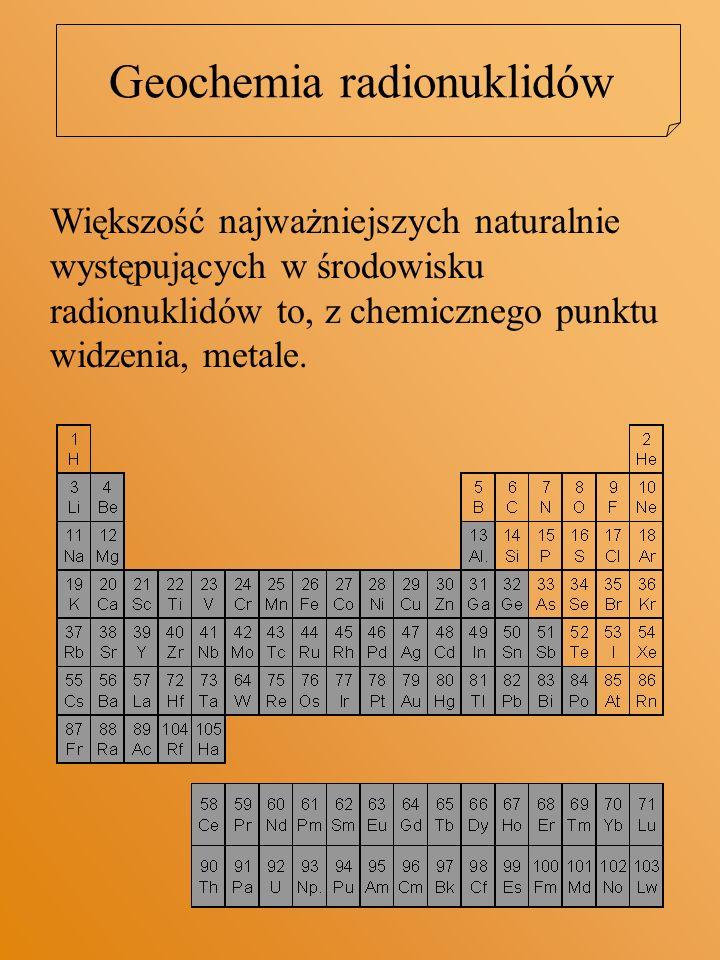 Geochemia radionuklidów