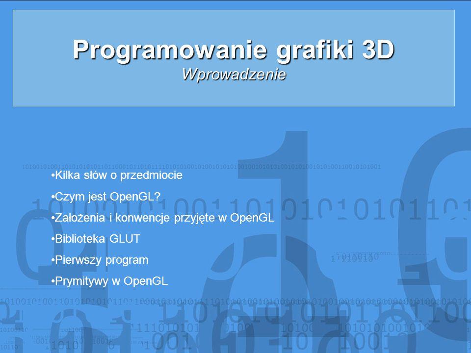Programowanie grafiki 3D