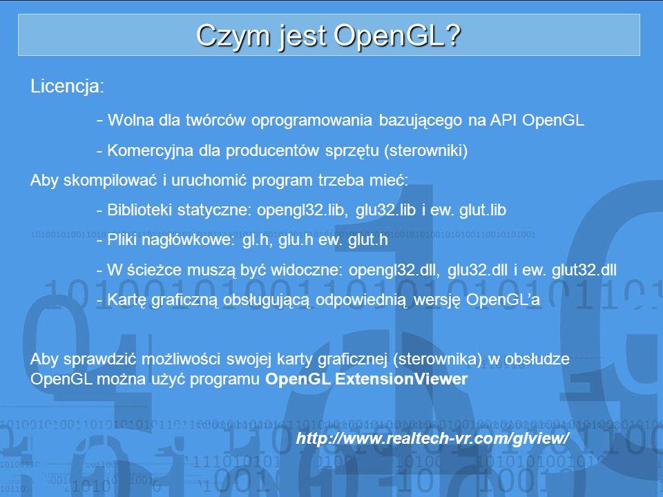 Czym jest OpenGL Licencja: