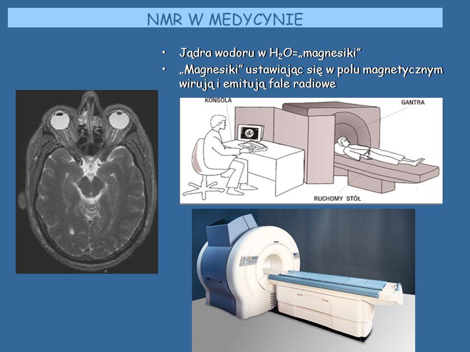 """NMR W MEDYCYNIE Jądra wodoru w H2O=""""magnesiki"""