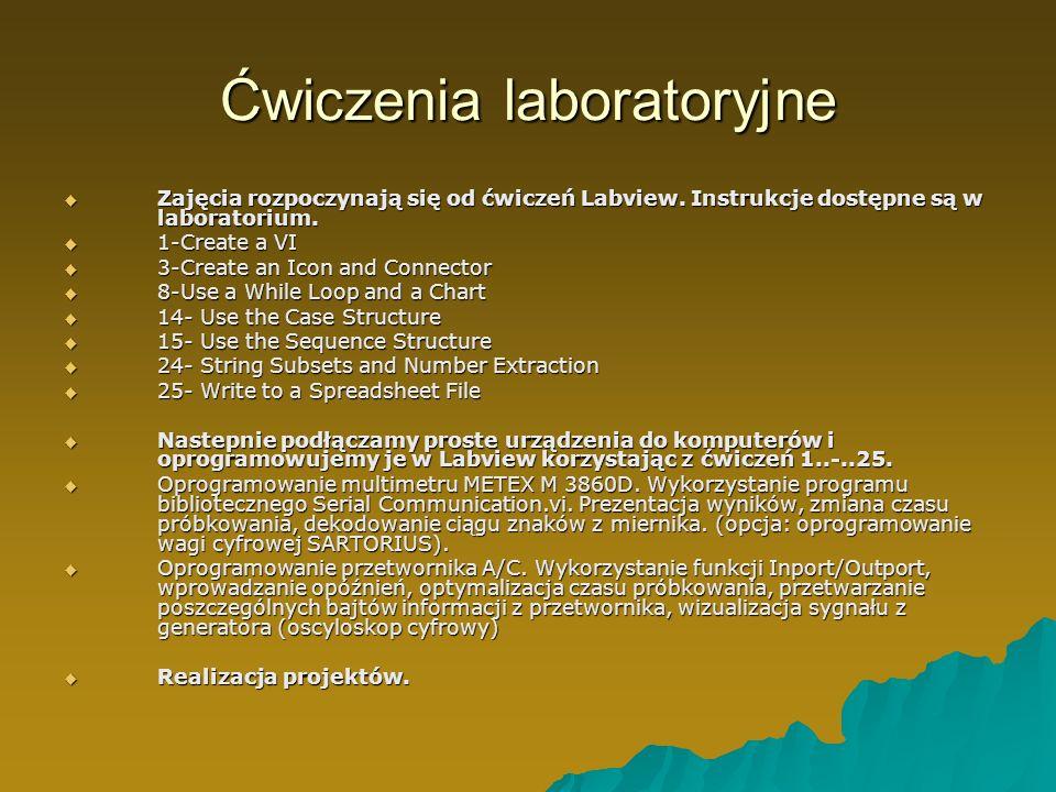 Ćwiczenia laboratoryjne