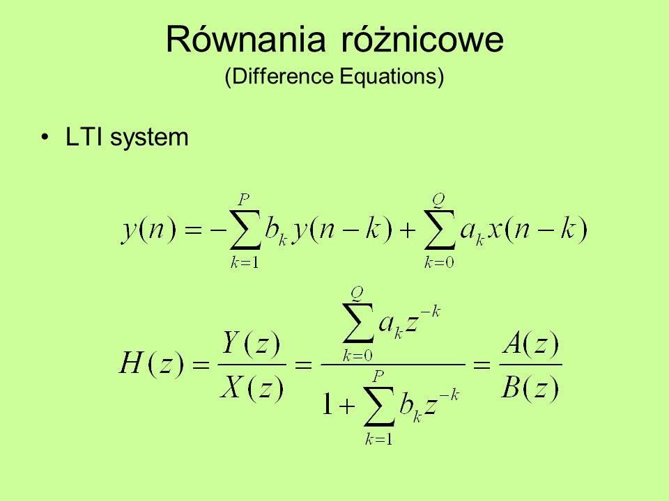 Równania różnicowe (Difference Equations)