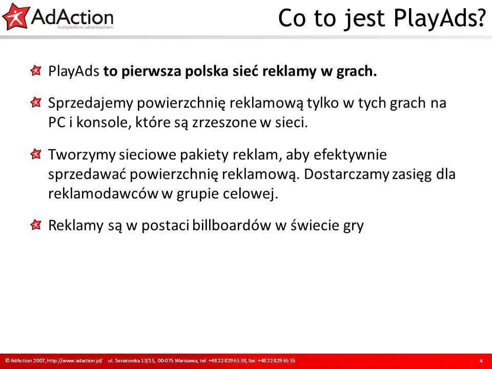 Co to jest PlayAds PlayAds to pierwsza polska sieć reklamy w grach.