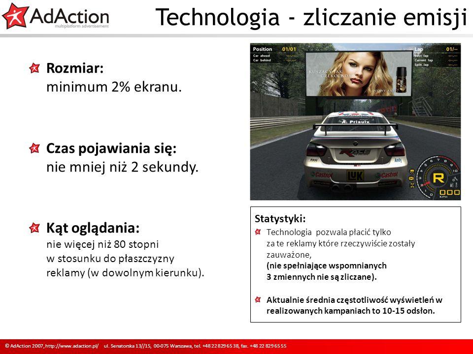 Technologia - zliczanie emisji