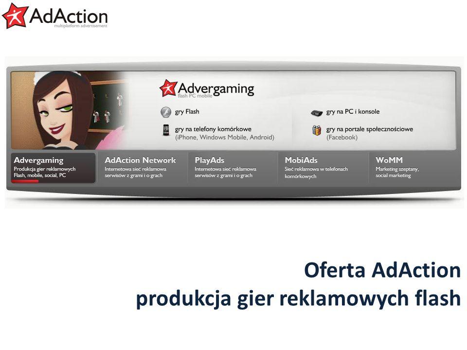 Oferta AdAction produkcja gier reklamowych flash