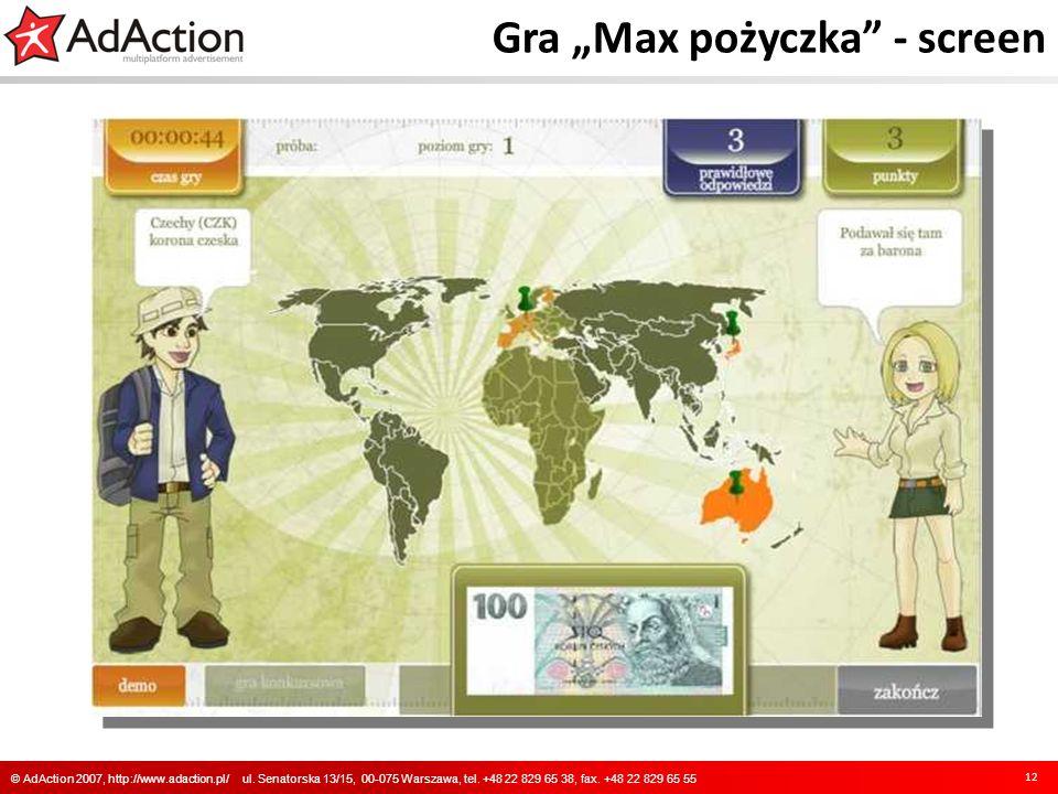 """Gra """"Max pożyczka - screen"""