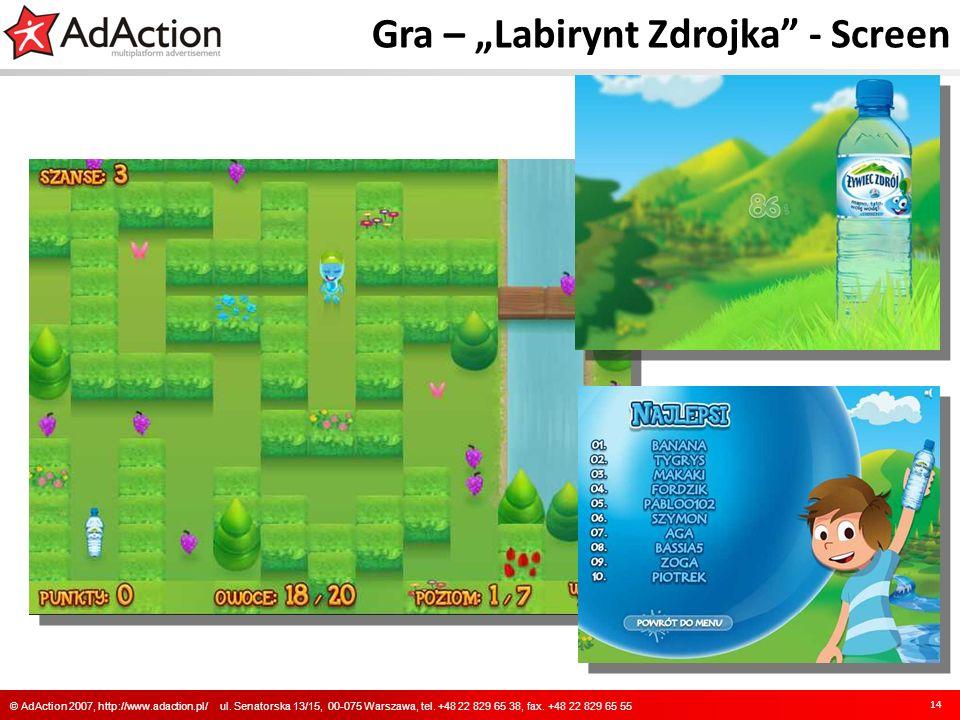"Gra – ""Labirynt Zdrojka - Screen"