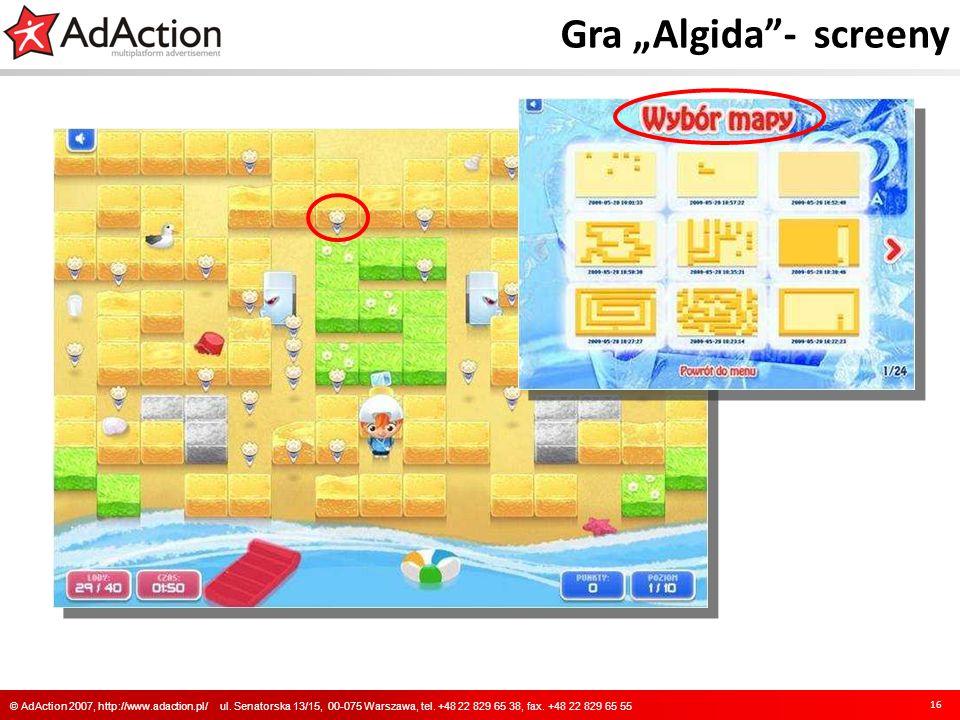 "Gra ""Algida - screeny"