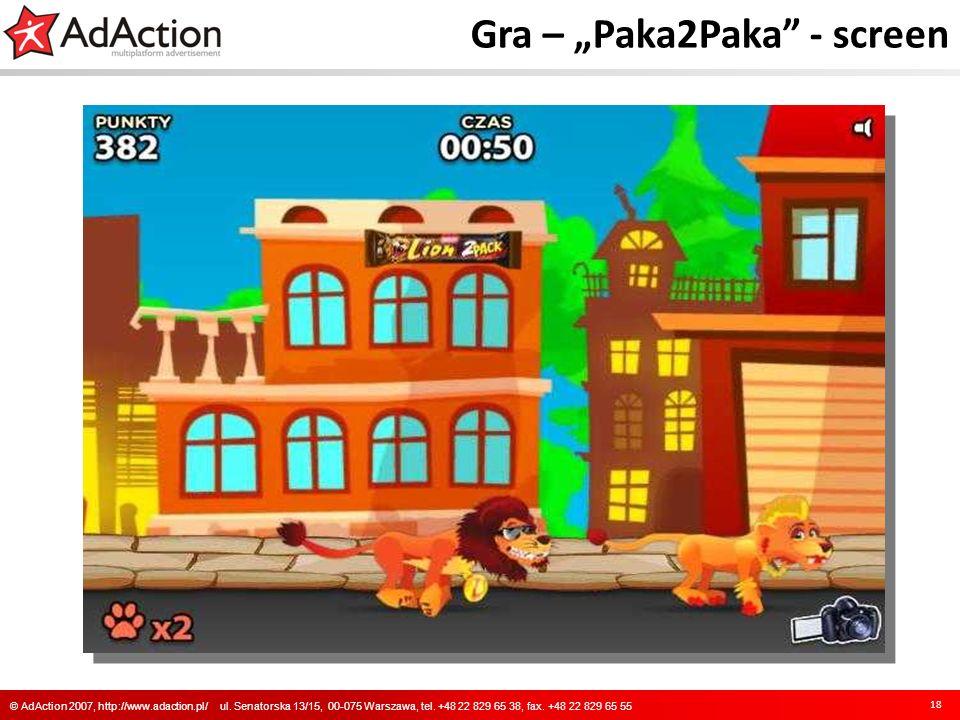 """Gra – """"Paka2Paka - screen"""