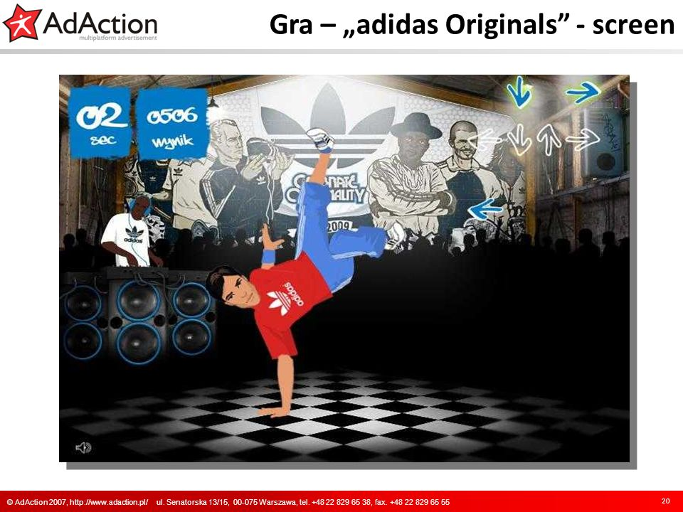 "Gra – ""adidas Originals - screen"