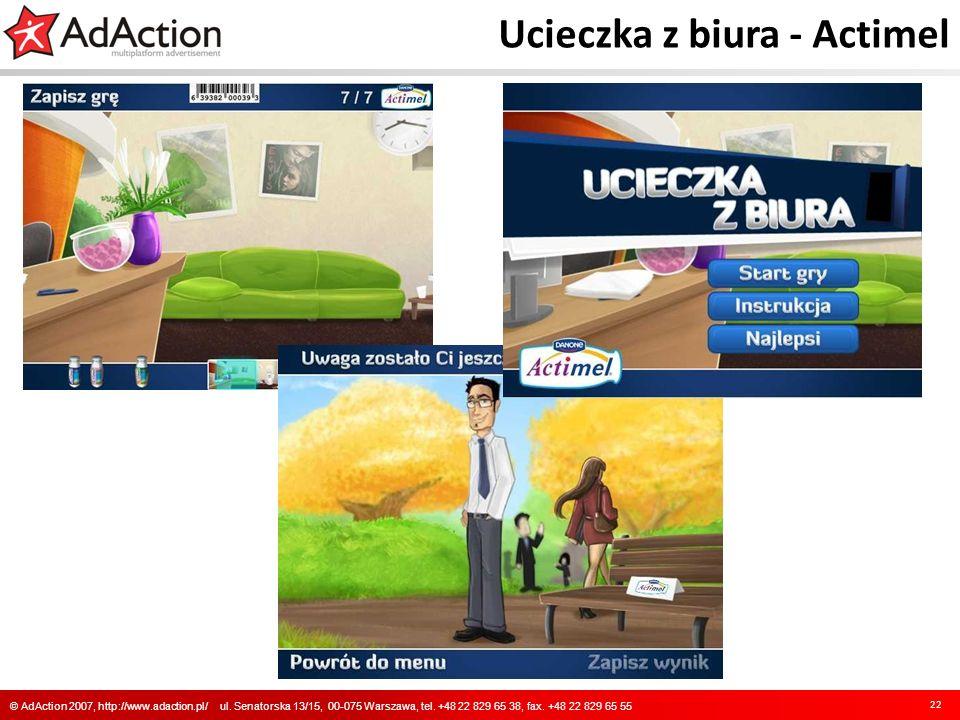 Ucieczka z biura - Actimel