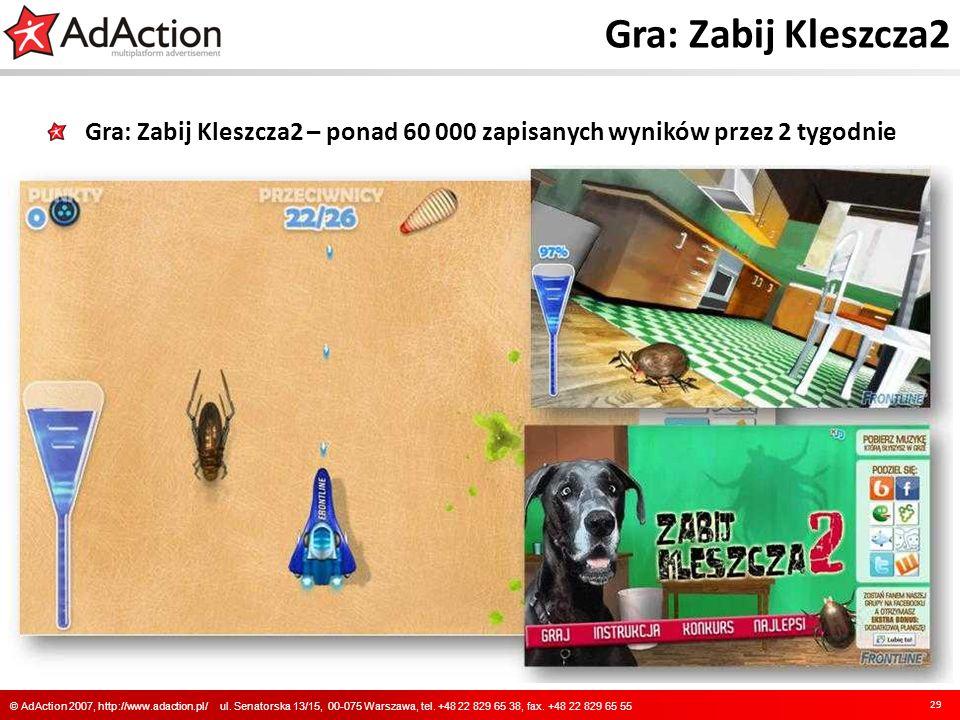 Gra: Zabij Kleszcza2 Gra: Zabij Kleszcza2 – ponad 60 000 zapisanych wyników przez 2 tygodnie.