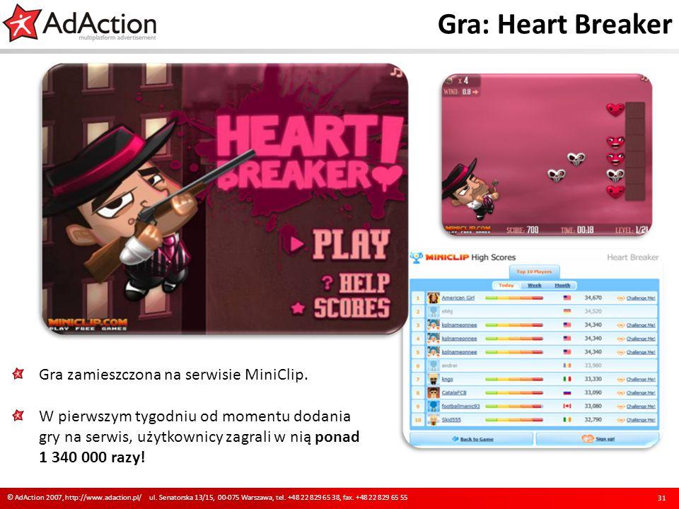 Gra: Heart Breaker Gra zamieszczona na serwisie MiniClip.