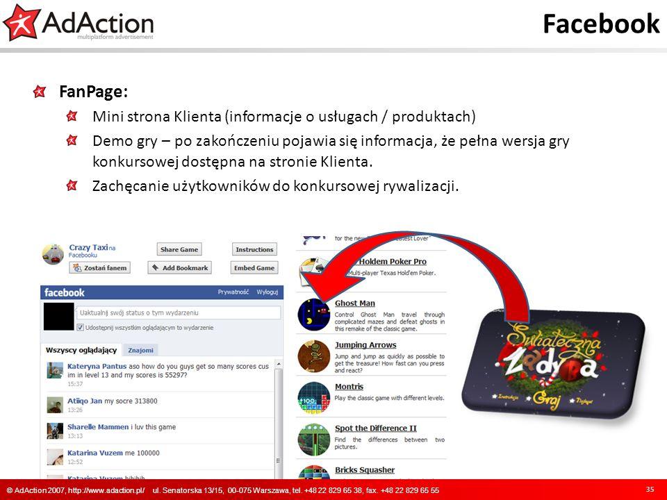Facebook FanPage: Mini strona Klienta (informacje o usługach / produktach)