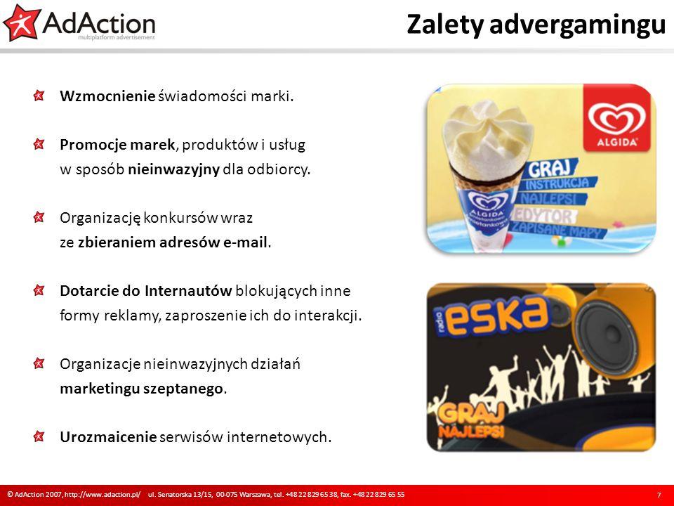 Zalety advergamingu Wzmocnienie świadomości marki.