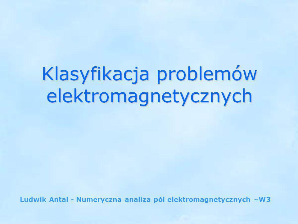 Klasyfikacja problemów elektromagnetycznych