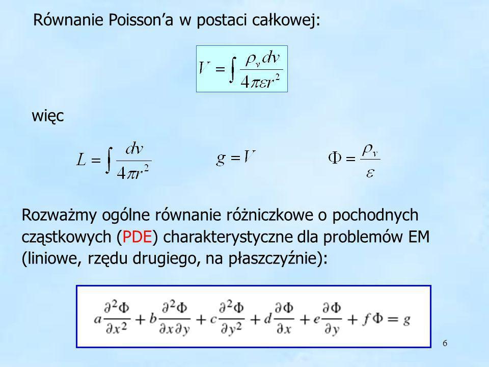 Równanie Poisson'a w postaci całkowej:
