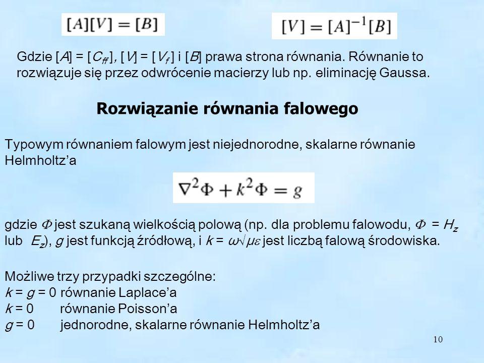 Rozwiązanie równania falowego