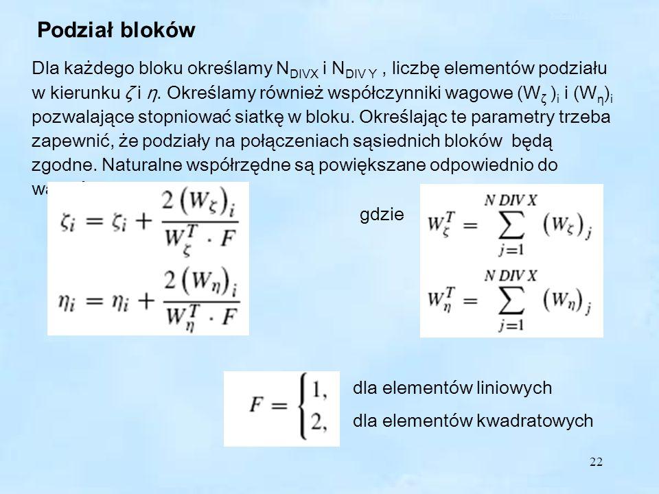 Podział bloków Podział bloków.