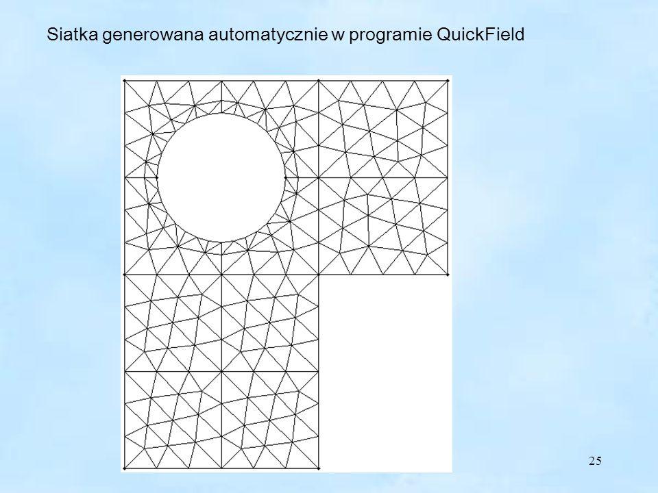 Siatka generowana automatycznie w programie QuickField