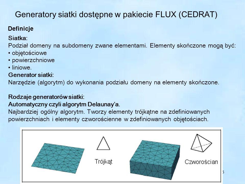 Generatory siatki dostępne w pakiecie FLUX (CEDRAT)