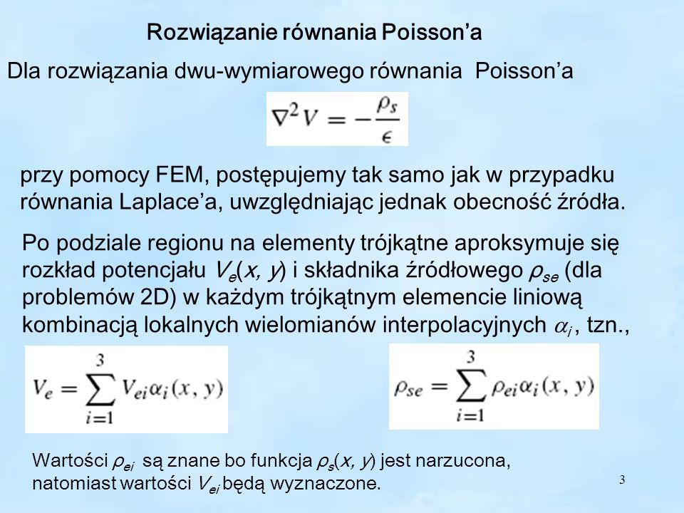 Rozwiązanie równania Poisson'a