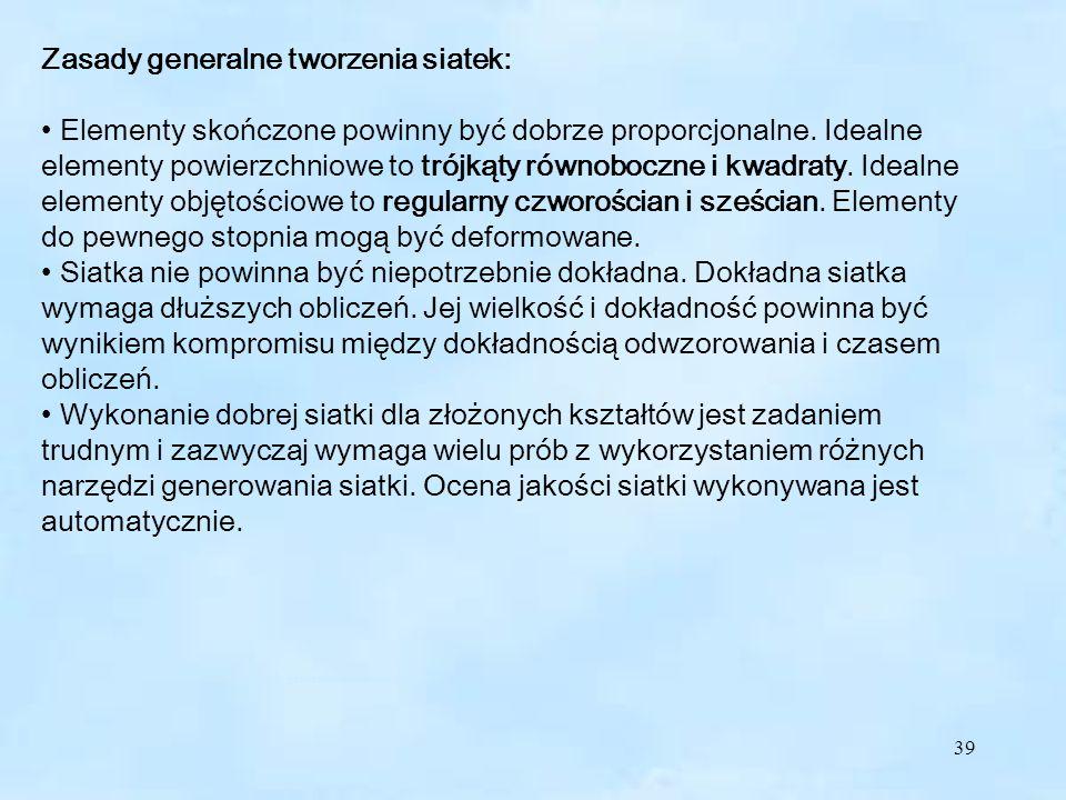 Zasady generalne tworzenia siatek