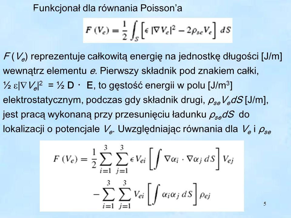 Funkcjonał dla równania Poisson'a