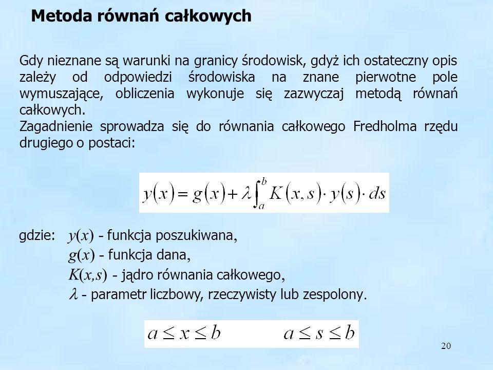 Metoda równań całkowych