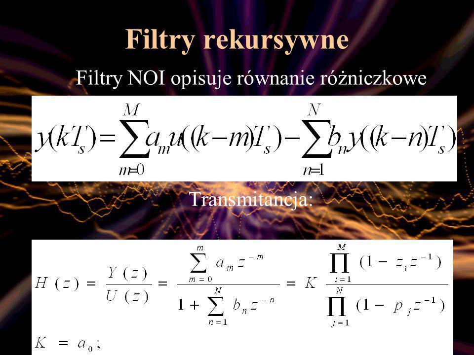 Filtry NOI opisuje równanie różniczkowe
