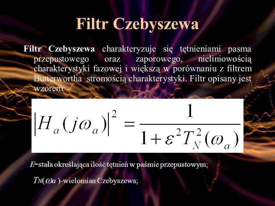 Filtr Czebyszewa