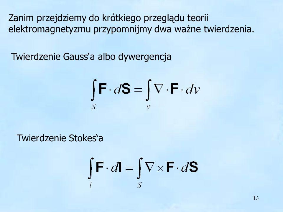 Twierdzenie Gauss'a albo dywergencja