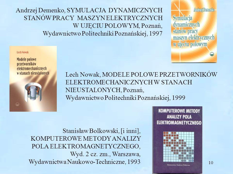 Andrzej Demenko, SYMULACJA DYNAMICZNYCH