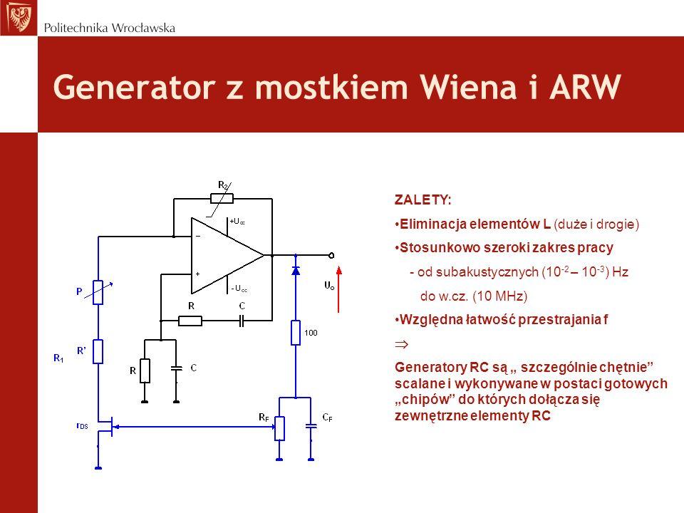 Generator z mostkiem Wiena i ARW