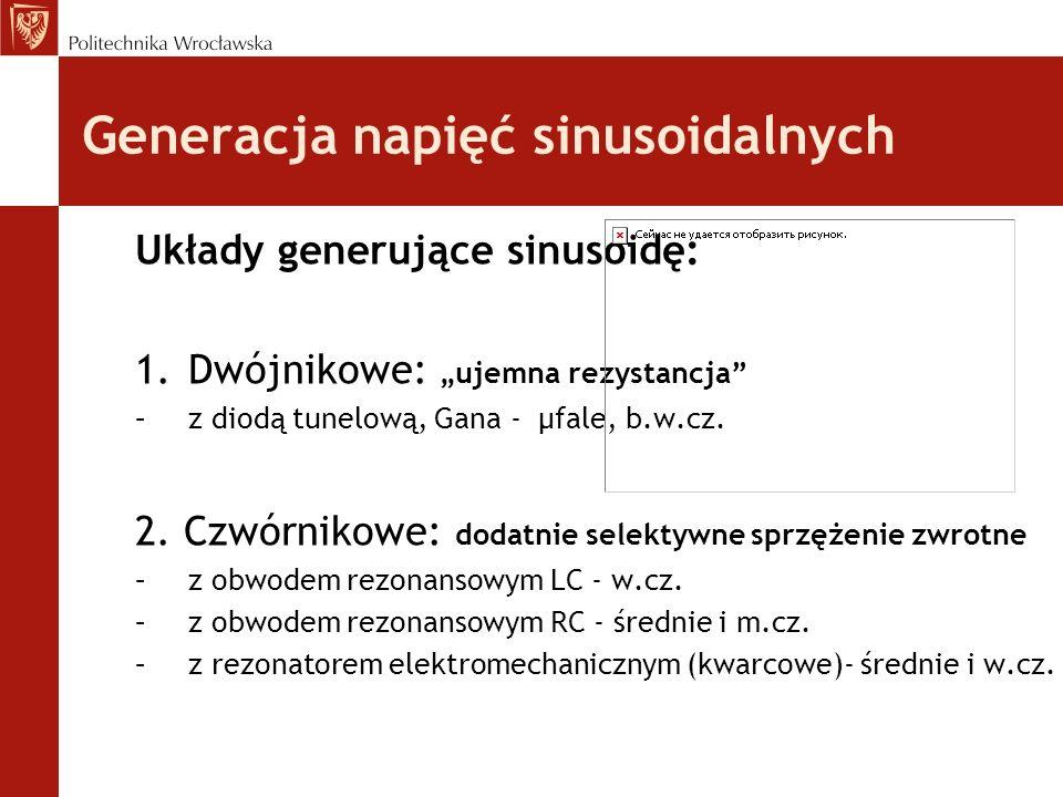 Generacja napięć sinusoidalnych