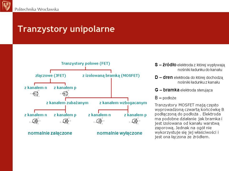 Tranzystory unipolarne