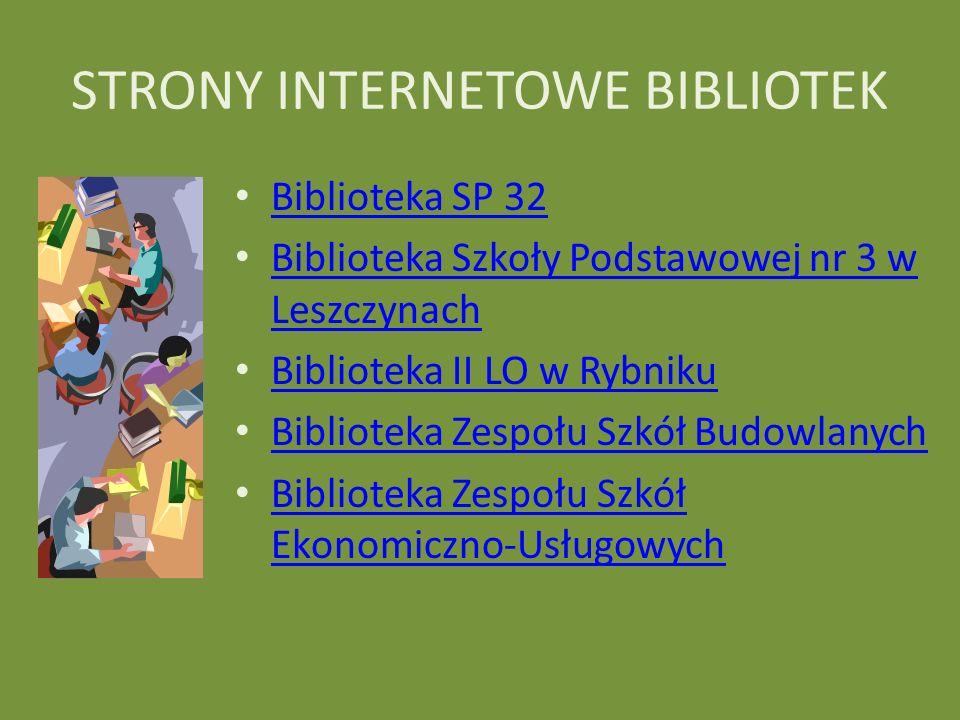 STRONY INTERNETOWE BIBLIOTEK