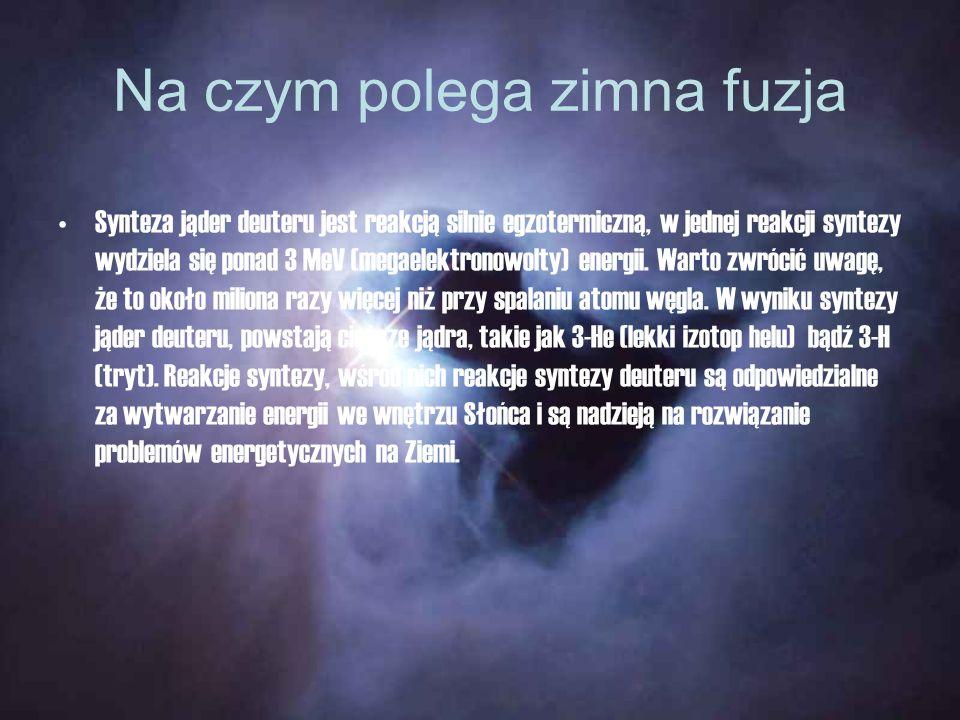 Na czym polega zimna fuzja