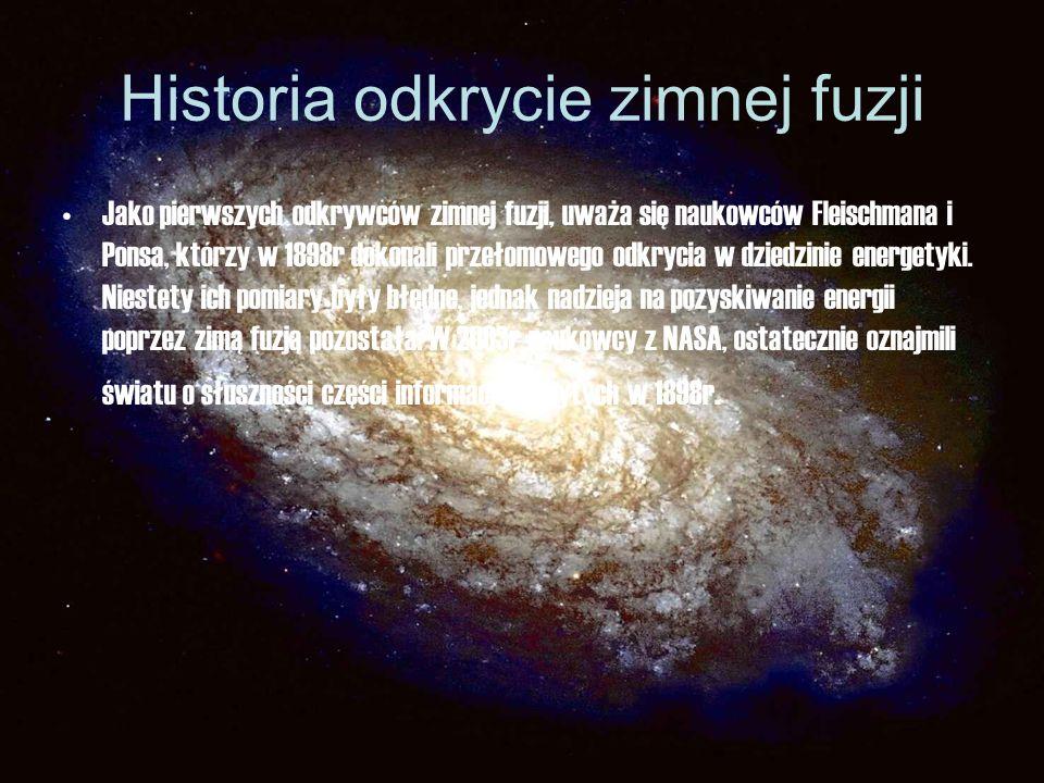 Historia odkrycie zimnej fuzji