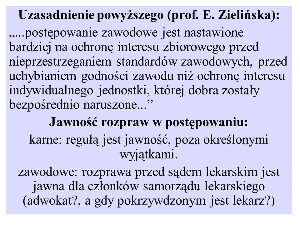 Uzasadnienie powyższego (prof. E. Zielińska):